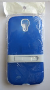 Galaxy S4 Case with kick stand Blue