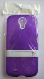 Galaxy S4 Case with kick stand Purple