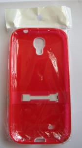 Galaxy S4 Case with kick stand Red